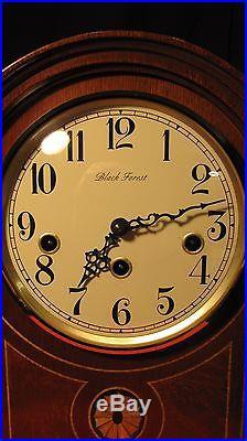 Stunning Franz Hermle Barrister Westminster Chime Key Wind Mantle Clock Works