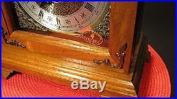 Stunning Franz Hermle Hamilton Westminster Chime Key Wind Mantle Clock, Works