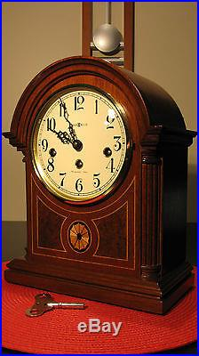 stunning howard miller barrister westminster chime key wind mantle clock works - Howard Miller Mantel Clock