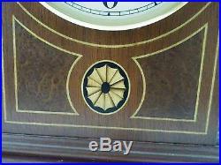 Stunning Howard Miller Barrister Westminster Chime Key Wind Mantle Clock Works