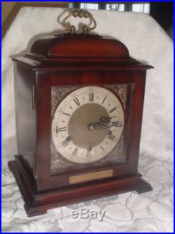 SUPERB English Vintage GEORGIAN STYLE Westminster Chiming BRACKET CLOCK by TN&G