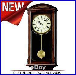 Seiko Analogue Pendulum Wall ClockWestminster & Whittington ChimesMDF CaseNEW
