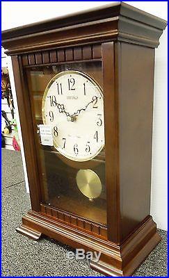Seiko Mantel Clock -mantel Clock With Westminster/whittington Chimes Qxq029blh