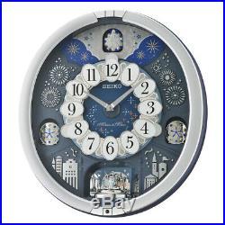 Seiko Melodies In Motion Wall ClockWestminster ChimeMetallic SilverQXM379S