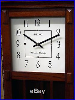 Seiko Mission Style Wall Clock With Dual Chimes Qxh045blh