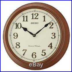 Seiko QXD214B Westminster/Whittington Dual Chime Brown Wood Wall Clock New