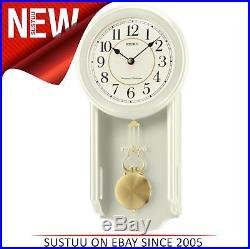 Seiko QXH063C Westminster/Whittington Dual Chime Wall Clock With PendulamCream
