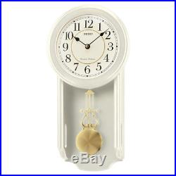 Seiko QXH063C Westminster/Whittington Dual Chime Wall Clock With PendulamCream