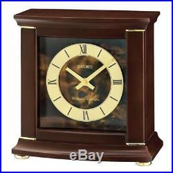 Seiko QXJ030B Westminster/Whittington Dual Chime Alarm Clock Dark Brown New