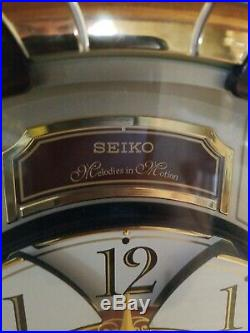 Seiko QXM554BRH Special Edition in Motion Clock with 24 Melodies