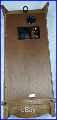 Seiko Quartz Wooden Wall Pendulum Clock QXH101BC Westminster Whittington withChime