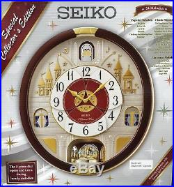 Seiko Special Collector Edition Melodies In Motion Clock with Swarovski Crystals