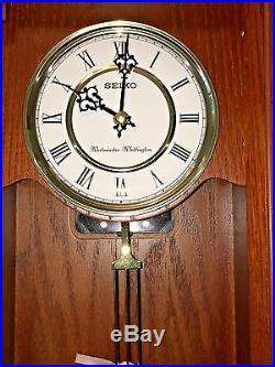 Seiko Wall Clock Wood Case Pendulum Amp Westminster