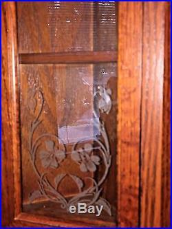 Seiko Wall Clock Wood Case Pendulum & Westminster/Whittington Chime Etched Glass