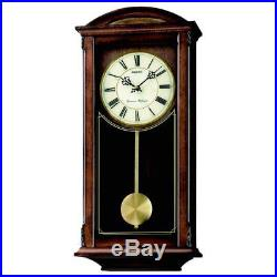 Seiko Westminster Whittington Dual Chime Wall Clock With Pendulum Brown