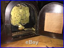 Seth Thomas 8 Day Westminster Chime Movement Mantle Clock #124, Works