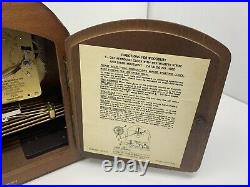 Seth Thomas 8 Day Woodbury Westminster Chime Mahogany 1302 Mantel Clock AS IS