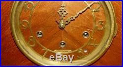 Seth Thomas Art Deco 8-Day Mantle Clock withWestminster Chimes C. 1937 1940