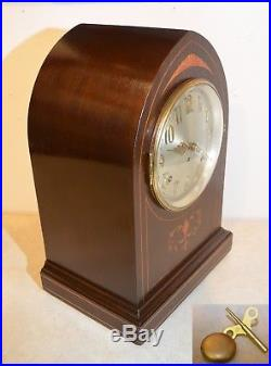 Seth Thomas Fully Restored Antique Westminster Chime Clock 64-1921 In Mahogany