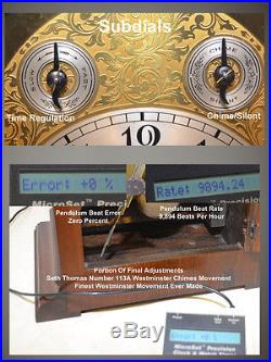 Seth Thomas Grand Westminster Chime #70 1928 Antique Clock In Rubbed Mahogany