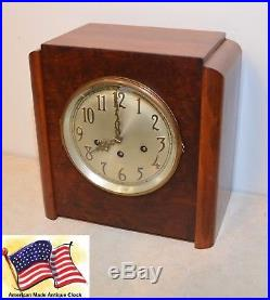 Seth Thomas Restored Grand Chime 81 1934 Antique Westminster Clock In Walnut