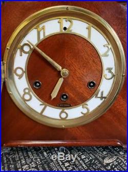 Seth Thomas Simsbury 1-W Westminster Chime Mahogany Mantle Clock