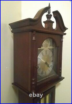 Seth Thomas Tempus Fugit Grandfather Clock 7' Weight Driven Westminster Chime