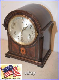 Seth Thomas Westminster Chime Clock #96 1928 Antique Clock In Rubbed Mahogany