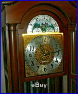 Seth Thomas Westminster Chime Tall Case Clock Tubular 5 Tube Grandfather Working