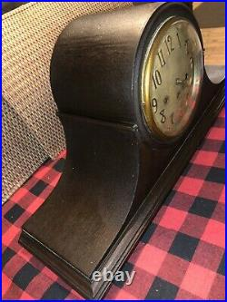 Seth Thomas Westminster Tambour Clock (113) chimes, Dial, hands, Bezel. Parts