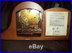 Seth Thomas Woodbury Mantle Clock Westminster Chime Made in Germany With key