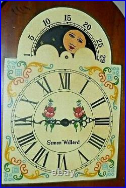 Simon Willard Westminster Chime Tall Case Colonial Clock Moonphase Grandfather