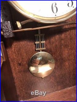 Sligh 0797-1-AN Mahogany Westminster Chime Wall Clock Movement #3110 20 Beveled