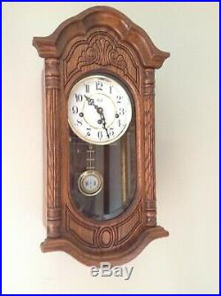 Sligh 0798-1-AB Wall Clock Oak 8 Day Key Wound Hermle Westminster Chime