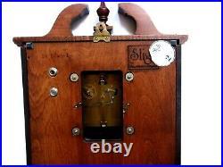 Sligh Carved Chime Wall Clock Franz Hemle Movement Key Pendulum
