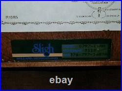 Sligh Carved Wood Wall Clock Westminster Chime Hermle Movement Key Pendulum Nice