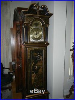 Sligh Chinoiserie Oriental Grandfather Clock Model # 0996-1-BD