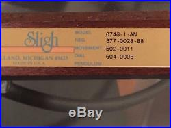 Sligh Eight Day Westminster Chime Wall Clock