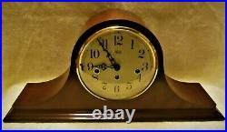 Sligh Mantel Clock Walnut Westminster Chimes EXCELLENT