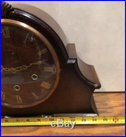 Smiiths Westminster Whittington Art Deco Mid Century English Chime Mantle Clock