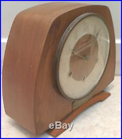 Smiths Mahogany Case Westminster Chimes Floating Movement Mantle Clock 9H 10W