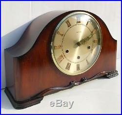 Smiths Tempora Walnut Westminster Whittington Chiming Mantle Clock