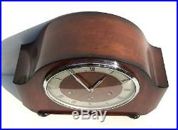 Smiths Walnut Quarter Chiming Westminster Mantle Clock