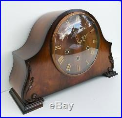 Smiths Walnut Westminster Chiming Mantle Clock Circa 1950