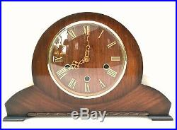 Smiths Walnut Westminster Chiming Mantle Clock Superb