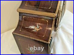Stunning Chinoiserie Case Bracket Clock With Westminster Chime, Rare And In Vgc
