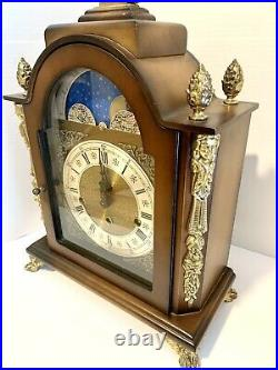 Stunning Lauris Moon Phase Westminster Chime Mantel Clock