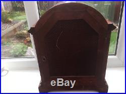 Stunning Mahogany Cased Gustav Becker Westminster Chimes Boardroom Clock
