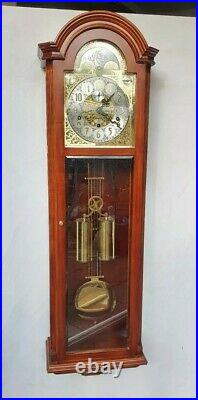 Stunning Westminster Chime Moonphase Glass Front Wall Clock