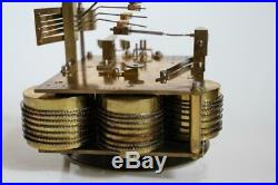 TRIPLE FUSEE BOARDROOM BRACKET CLOCK quarter chiming 5 coiled gongs WESTMINSTER